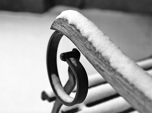 snow, wood, iron