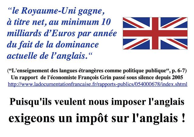 Impôt sur l'anglais