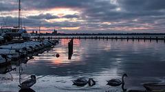 Sonnenuntergang über Stralsund
