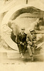 Two Men and a Paper Moon, Riverview Exposition, Chicago, ca. 1910s