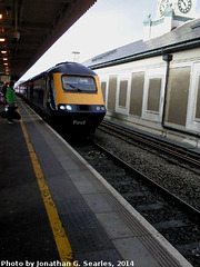 First Great Western Intercity 125 in Cardiff Central Station, Cardiff, Glamorgan, Wales (UK), 2014