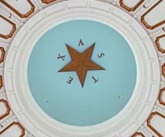 Ceiling of the Dome in the Texas State Capitol Rotundra