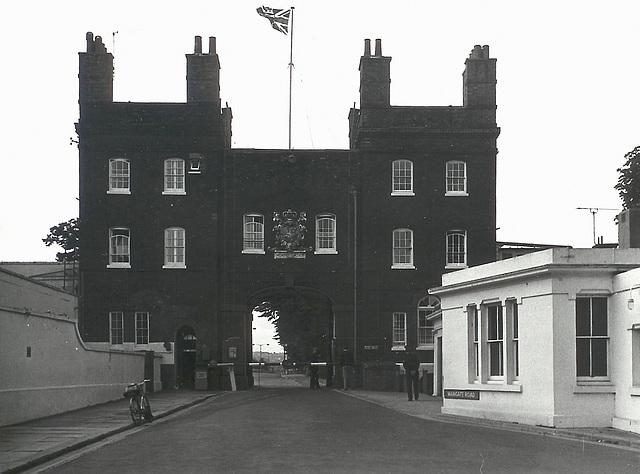 Chatham Dockyard 1973 Main Gate North Elevation