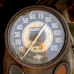 Military History Day 2014 – Speedometer of a Harley Davidson