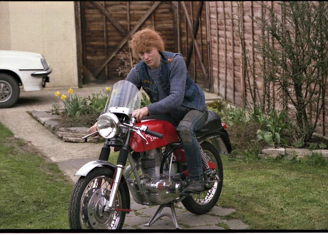 RE Continental GT 250 rebuild and son.