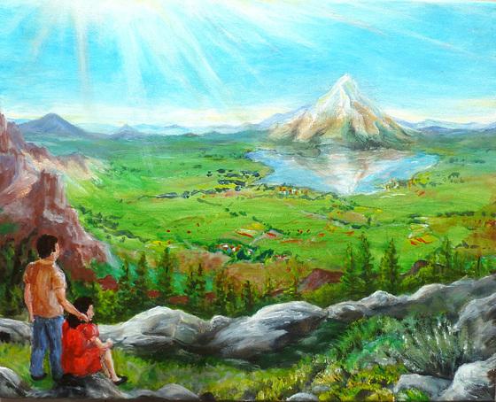 Horizonte - Traum oder Wirklichkeit - Nina und Nino schauen auf eine neue Welt