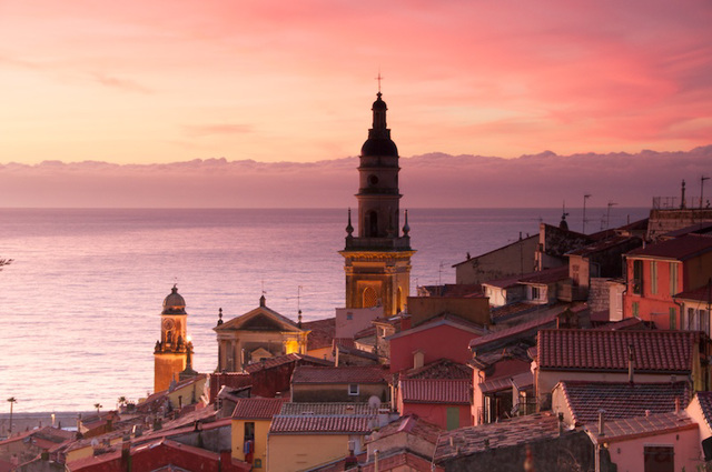 Menton at dawn