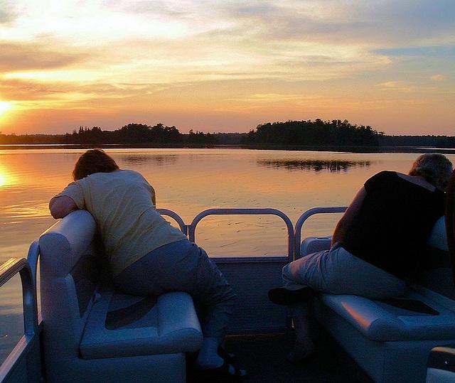 Sun setting Clayton Lake Ontario