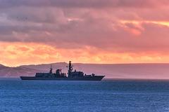 Type 23 frigate HMS Iron Duke (F234) in Weymouth Bay