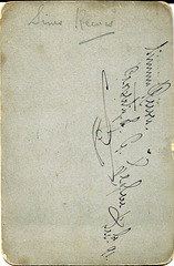 Sims Reeves Autograph on Reverse