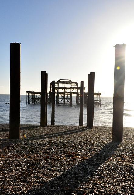 Evening, west pier, Brighton