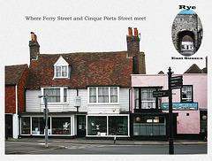 Rye - Ferry Street meets Cinque Ports Street