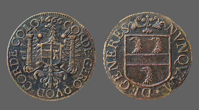 BESANCON: Jeton de Co-gouverneur de la famille    Jean-Claude Cabet daté de 1666.