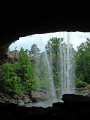 Behind Noccalula Falls