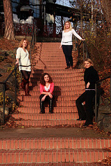 Sisters on Stairs