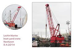 Lochin Marine's crane - Newhaven - by Phil & Sam Sutters (6years) - 5.4.2014