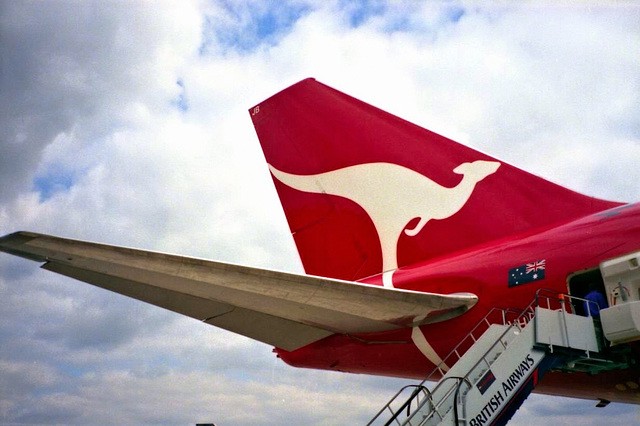 New Qantas Airlines livery tail
