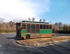 Bus touristique sans touristes / Tourist bus with no tourists inside.