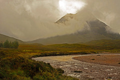 Sun, Mountain, Cloud, River