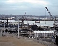 View over slips & HMS Ocelot 2002