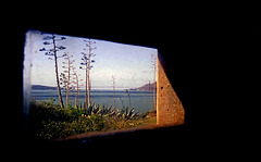 View from window in cell at Alcatraz Prison ruins