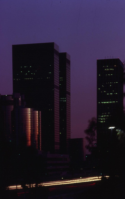 LA Downtown 1980 - Blue Hour II (195°)