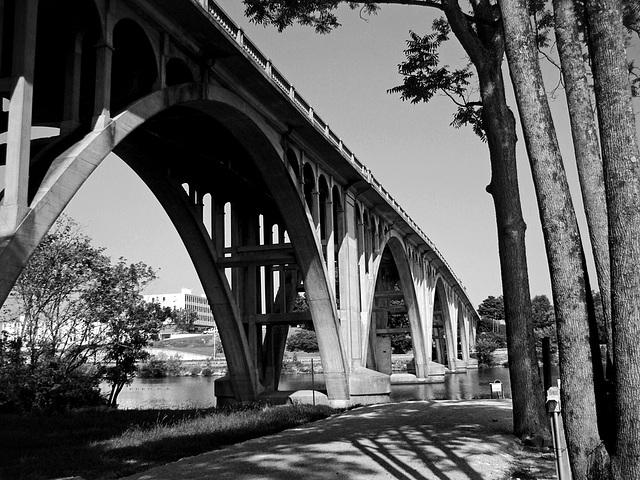 Broad Street Bridge in Black and White