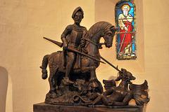 St-Georges terrassant le dragon - Eglise de Dangeau