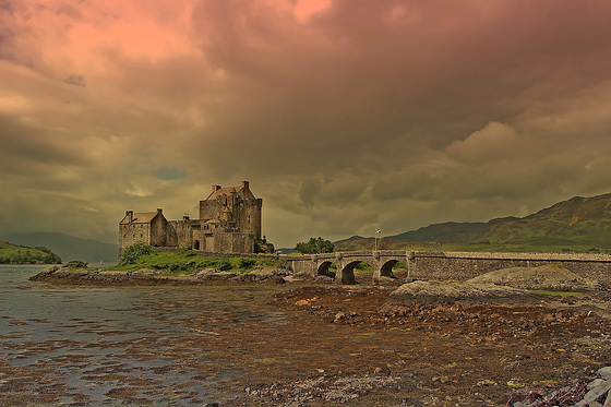 Red Sky over Eilean Donan