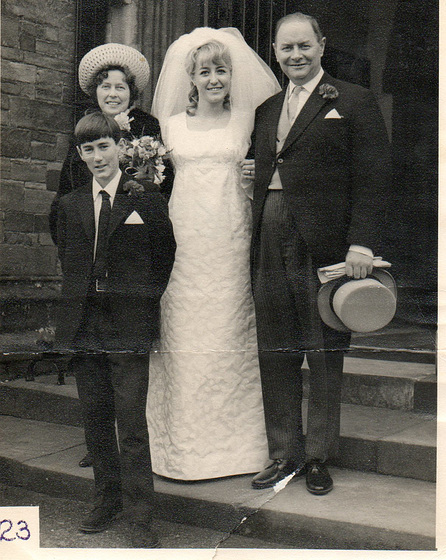 Mum, Dad & Paul with me after the deed was done
