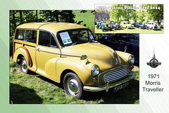 1971 Morris Traveller in Limeflower Green - Bishopstone Village Fete - 3.5.2014