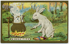 Easter Greetings: A Good Fire