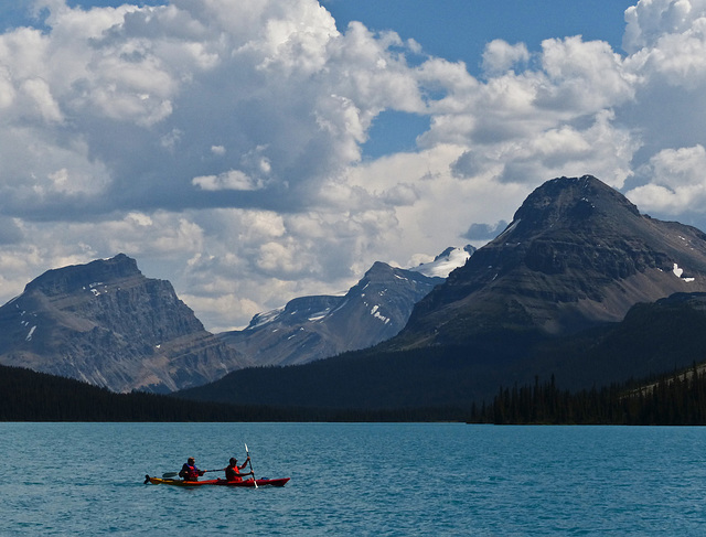 Canoeing on Bow Lake