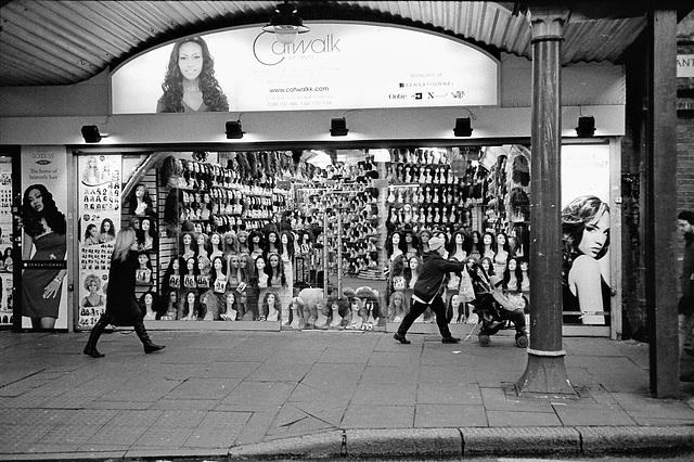 Wig shop, Brixton. London SW.