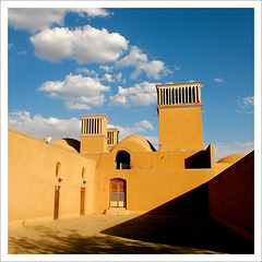 Clouds over Yazd.