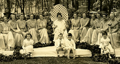 May Queen and Her Court, Bucknell University, May 12, 1934 (Cropped)