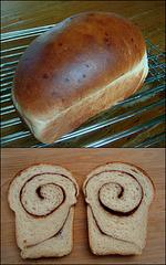 (Half recipe) 100% Whole Wheat Cinnamon Swirl Bread