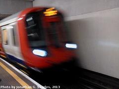 New Underground S Stock in King's Cross St. Pancras, London, England (UK), 2013