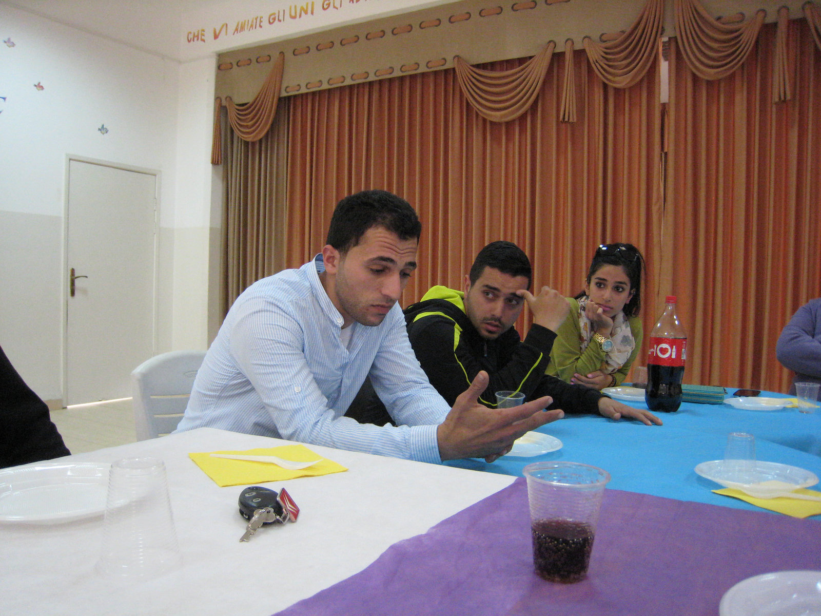 Youth in Jenin sharing their stories