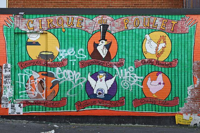 Cirque du poulet – St. Andrew Street, Toronto, Ontario