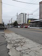 Sidewalk condition in Nashville.
