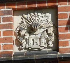 Wappen am Schloss in Bergedorf