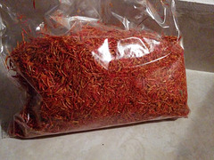 A bag of saffron gold, for the woman I love.