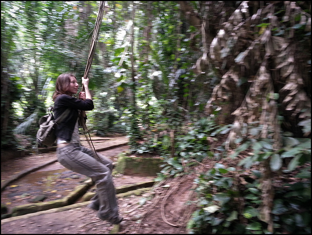 Sometimes, you've just got to be Tarzan