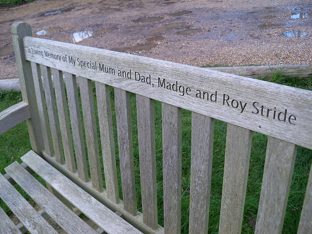 In Loving Memory of My Special Mum and Dad, Madge and Roy Stride