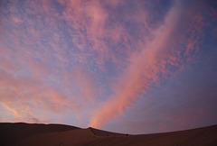 Couché de soleil sur les dunes