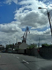 Dock crane  near Rushbrooke, Cobh, Ireland