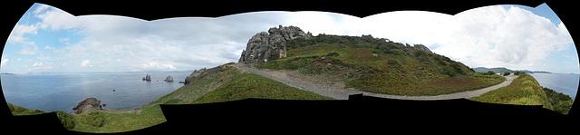 cap des Mèdes; nord de l'île de Porquerolle, panorama