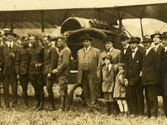 Early Biplane Photo by Harpel, Lebanon, Pa. (Detail)