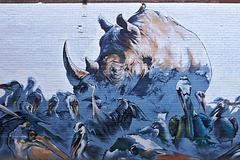 Rhino Plaster – College Street near Spadina Avenue, Toronto, Ontario